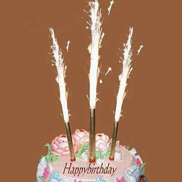 photo gallery birthdaysparklers com on birthday cake fountain candles