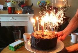 Birthday Cake Sparklers 1