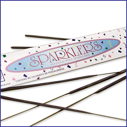 10 Inch Gold Birthday Sparklers