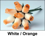 White and Orange Roses
