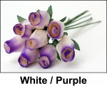 White and Purple Roses