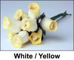 White and Yellow Roses