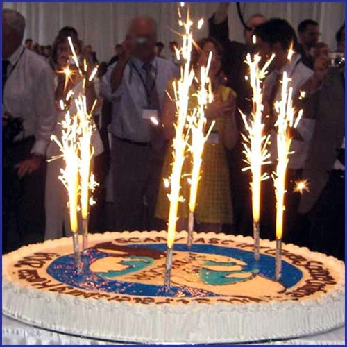 Gold Birthday Candle Sparklers image