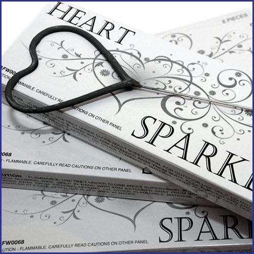 Heart Shaped Birthday Sparklers image