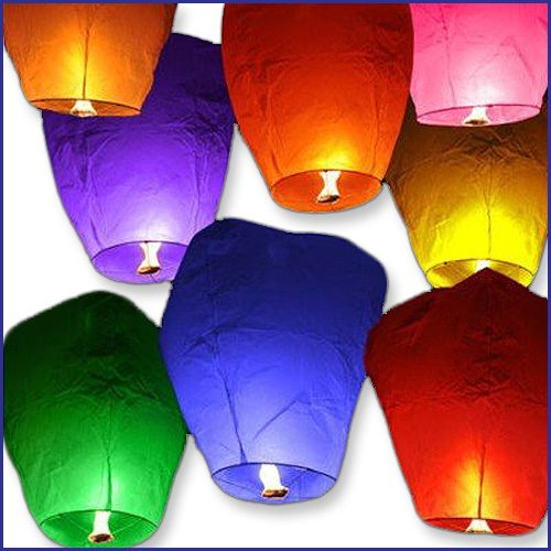Color Sky Lanterns image